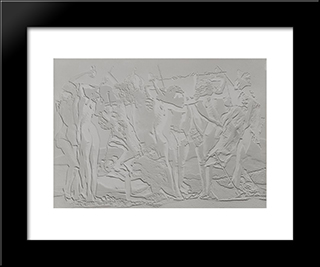 Maquette Pour Un Mur (Model For A Wall): Modern Black Framed Art Print by Raoul Ubac