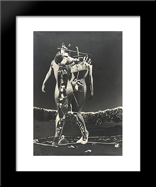 Penthesilee: Modern Black Framed Art Print by Raoul Ubac