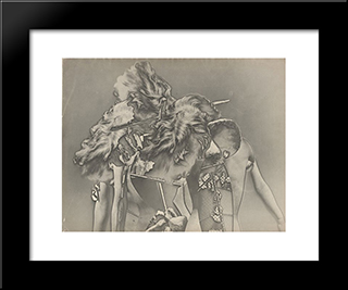 Penthesilee Iv: Modern Black Framed Art Print by Raoul Ubac