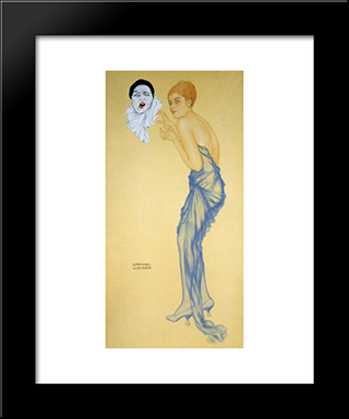 Anger: Modern Black Framed Art Print by Raphael Kirchner