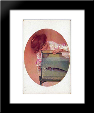 April Fool: Modern Black Framed Art Print by Raphael Kirchner