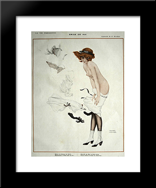 Brise Of May: Modern Black Framed Art Print by Raphael Kirchner