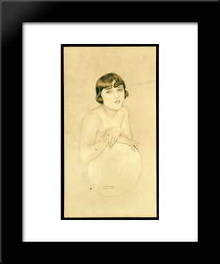 Dolly Sister: Modern Black Framed Art Print by Raphael Kirchner