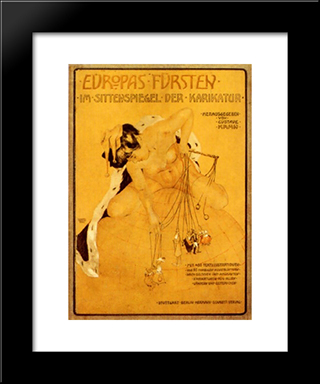 Europe'S Princes: Custom Black Wood Framed Art Print by Raphael Kirchner