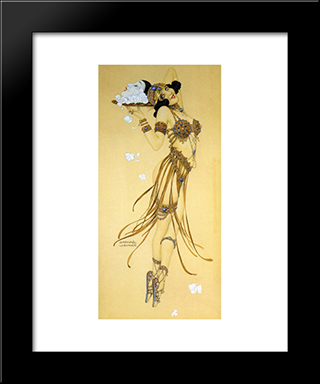 Expiation: Modern Black Framed Art Print by Raphael Kirchner