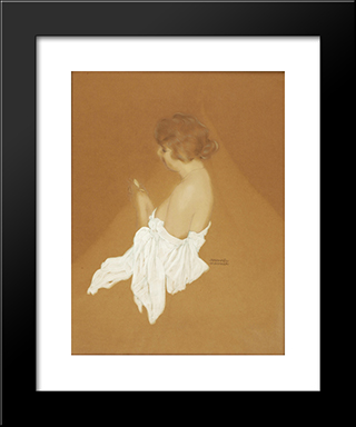 Fanny Brice: Modern Black Framed Art Print by Raphael Kirchner