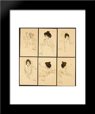 Favorite: Modern Black Framed Art Print by Raphael Kirchner
