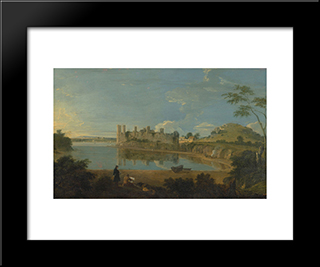Caernarvon Castle: Modern Black Framed Art Print by Richard Wilson