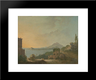 Cicero'S Villa And The Gulf Of Pozzuoli: Modern Black Framed Art Print by Richard Wilson