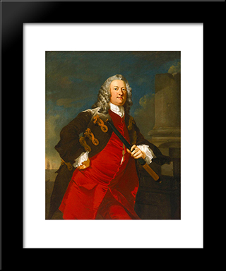 Commodore Thomas Smith: Modern Black Framed Art Print by Richard Wilson