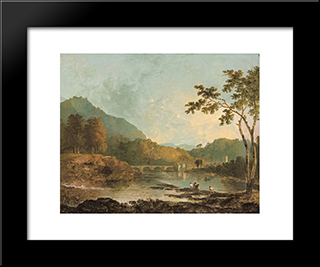 Dinas Bran From Llangollen: Modern Black Framed Art Print by Richard Wilson
