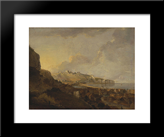 Dover: Modern Black Framed Art Print by Richard Wilson