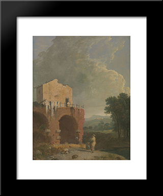 Hadrian'S Villa: Modern Black Framed Art Print by Richard Wilson