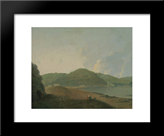 Lago D'Agnano With The Grotta Del Cane: Modern Black Framed Art Print by Richard Wilson
