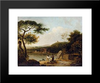 Lake Avernus I: Modern Black Framed Art Print by Richard Wilson