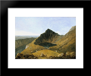 Llyn-Y-Cau, Cader Idris: Modern Black Framed Art Print by Richard Wilson