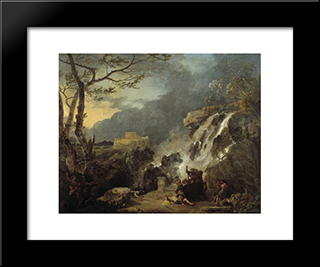 Meleager And Atalanta: Modern Black Framed Art Print by Richard Wilson
