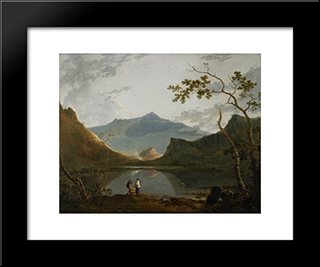 Snowdon From Llyn Nantlle: Modern Black Framed Art Print by Richard Wilson