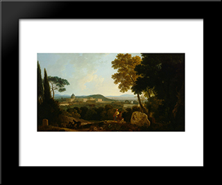 St Peters And The Vatican From The Janiculum, Rome: Modern Black Framed Art Print by Richard Wilson
