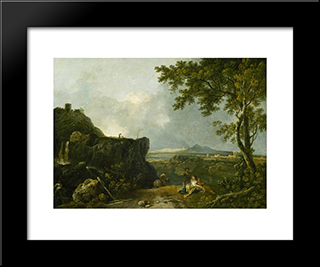 The White Monk: Modern Black Framed Art Print by Richard Wilson