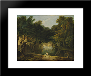 View Of The Wilderness In St. James'S Park: Modern Black Framed Art Print by Richard Wilson