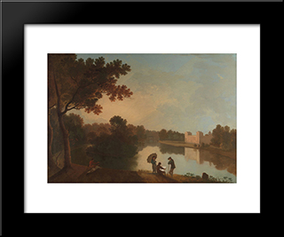 Wilton House From The Southeast: Modern Black Framed Art Print by Richard Wilson