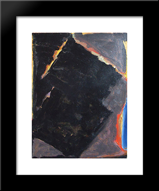 Light In Dark: Modern Black Framed Art Print by Richards Ruben