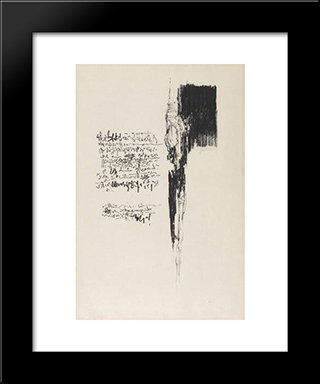 Love Letter #2: Modern Black Framed Art Print by Richards Ruben