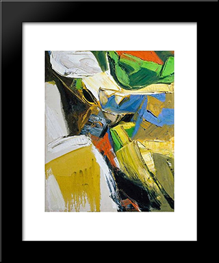 Summer #3: Modern Black Framed Art Print by Richards Ruben