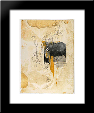 Untitled: Modern Black Framed Art Print by Richards Ruben