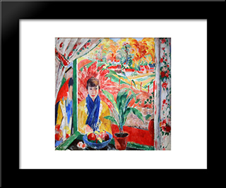 Autumn: Modern Black Framed Art Print by Rik Wouters