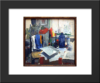 Dining Table: Modern Black Framed Art Print by Rik Wouters