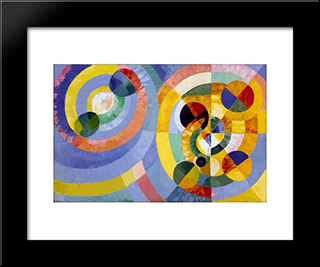 Circular Forms: Modern Black Framed Art Print by Robert Delaunay