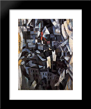 Ciudades. City: Custom Black Wood Framed Art Print by Robert Delaunay