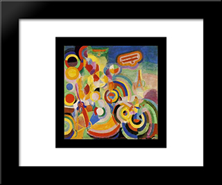 Homage To Bleriot: Modern Black Framed Art Print by Robert Delaunay