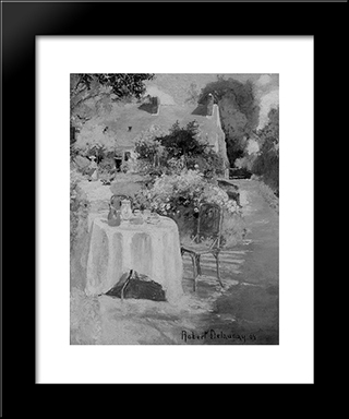 In The Garden: Modern Black Framed Art Print by Robert Delaunay