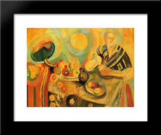 Poring: Modern Black Framed Art Print by Robert Delaunay