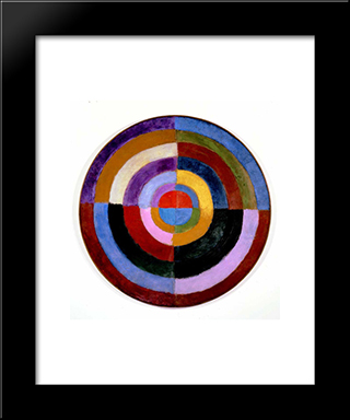 Premier Disque: Modern Black Framed Art Print by Robert Delaunay