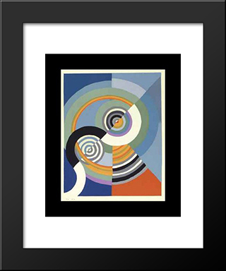 Rhythm: Modern Black Framed Art Print by Robert Delaunay