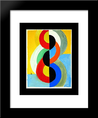 Rhythm Color: Modern Black Framed Art Print by Robert Delaunay
