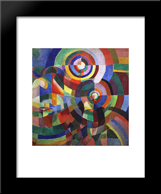 Rythm: Modern Black Framed Art Print by Robert Delaunay
