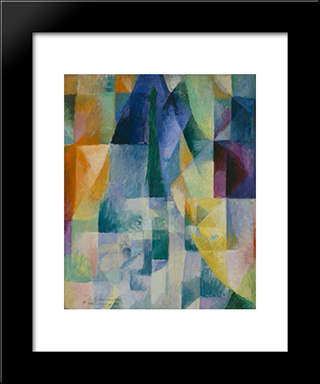 Simultaneous Windows (2Nd Motif, 1St Part): Modern Black Framed Art Print by Robert Delaunay
