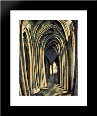 St. Severin, No. 3 : Custom Black Wood Framed Art Print by Robert Delaunay