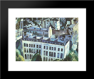 Study For The City: Modern Black Framed Art Print by Robert Delaunay