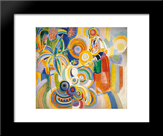 Tall Portuguese Woman: Modern Black Framed Art Print by Robert Delaunay
