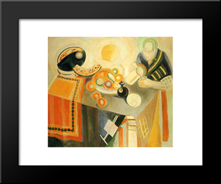 The Bowl: Modern Black Framed Art Print by Robert Delaunay