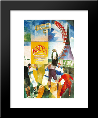 The Cardiff Team: Modern Black Framed Art Print by Robert Delaunay
