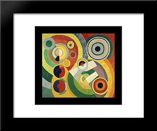 The Joy Of Life: Modern Black Framed Art Print by Robert Delaunay