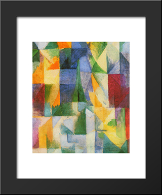Window: Modern Black Framed Art Print by Robert Delaunay
