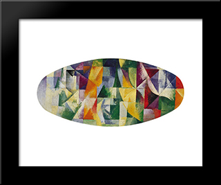 Windows Open Simultaneously 1St Part, 3Rd Motif: Modern Black Framed Art Print by Robert Delaunay